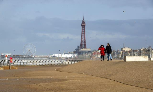 Blackpool has been a popular destination (Peter Byrne/PA)