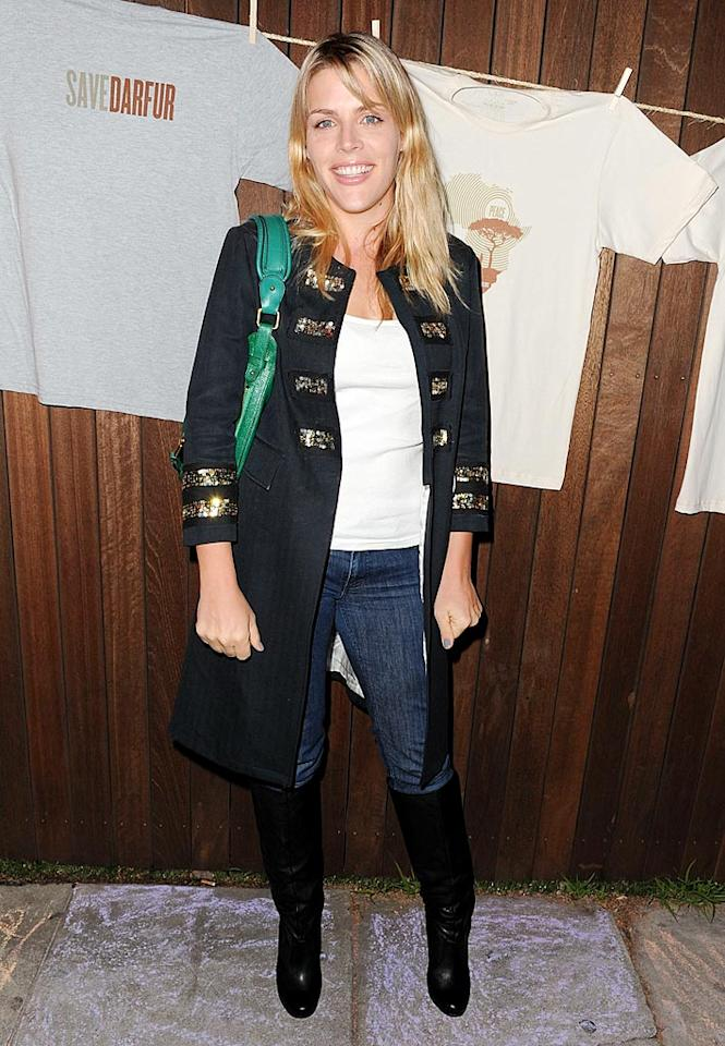 """Courteney's """"Cougar Town"""" co-star Busy Philipps, in a fab military jacket, came out to support her friend's cause. Michael Kovac/<a href=""""http://www.filmmagic.com/"""" target=""""new"""">FilmMagic.com</a> - December 17, 2009"""