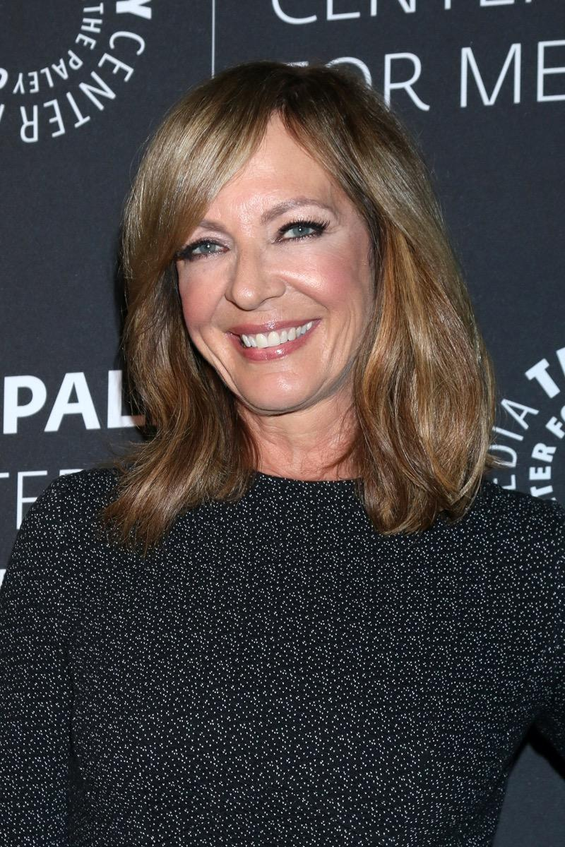 Allison Janney wears a black dress at The Paley Honors: A Special Tribute To Television's Comedy Legends in 2019