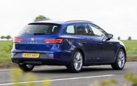 2017 Seat Leon ST driving rear