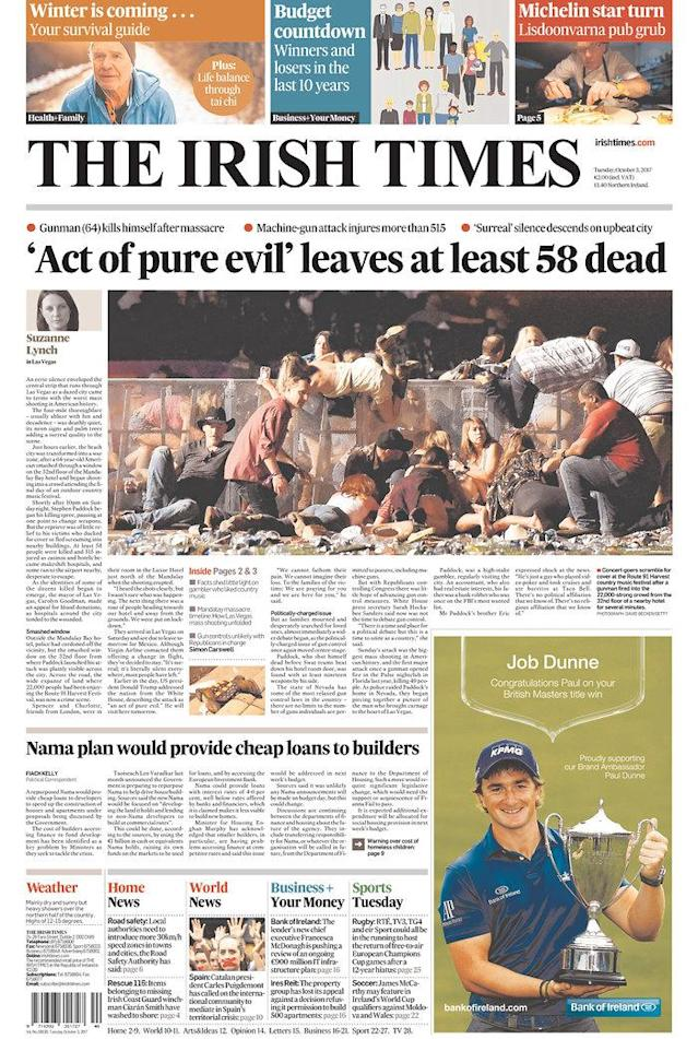 "<p>""The Irish Times,"" published Dublin, Ireland. (newseum.org) </p>"
