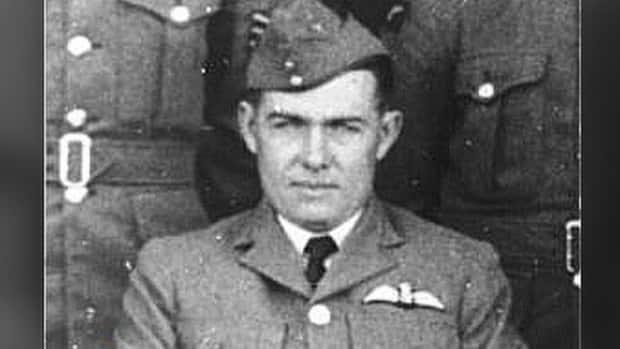 Flight Lt. Robert Coventry, a Canadian from Oak Bay, B.C., died while flying with the British Royal Air Force in 1940. He's being honoured with a memorial near the site of the crash in Quedgeley, near Gloucester. (BBC - image credit)