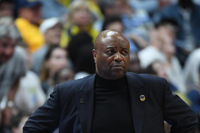 <p>Head coach Leonard Hamilton of the Florida State Seminoles looks on during the 2019 NCAA Men's Basketball Tournament West Regional game against the Gonzaga Bulldogs at Honda Center on March 28, 2019 in Anaheim, California. (Photo by Harry How/Getty Images) </p>