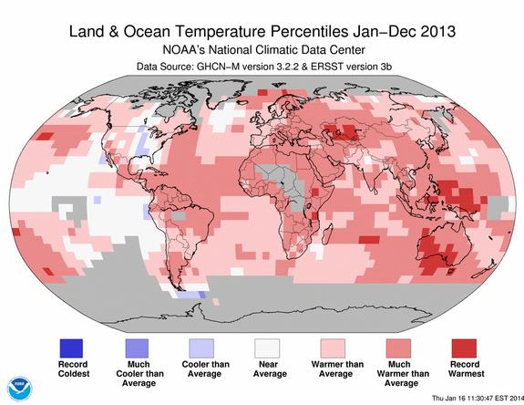 Global temperatures in 2013.