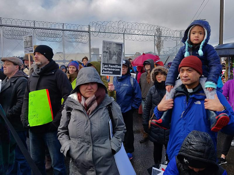 Sunday's protest at the immigrant detention center in Tacoma is a prelude to a larger gathering planned for Washington, D.C., on June 6. (Photo: Mari Hayman/HuffPost)
