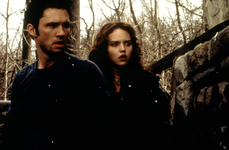 "<p><em>The Blair Witch Project</em> is one of the most inventive horror movies of all time. It put the found footage genre of horror on the map and grossed over $248 million on a reported $500,000 budget. The film not only has a place in movie history but history, period. As for the sequel? Well, it's just that: a sequel. </p> <p><a href=""https://www.amazon.com/Blair-Witch-2-Book-Shadows/dp/B001H1SVRK"" rel=""nofollow noopener"" target=""_blank"" data-ylk=""slk:Stream on Amazon Prime Video"" class=""link rapid-noclick-resp""><em>Stream on Amazon Prime Video</em></a></p>"