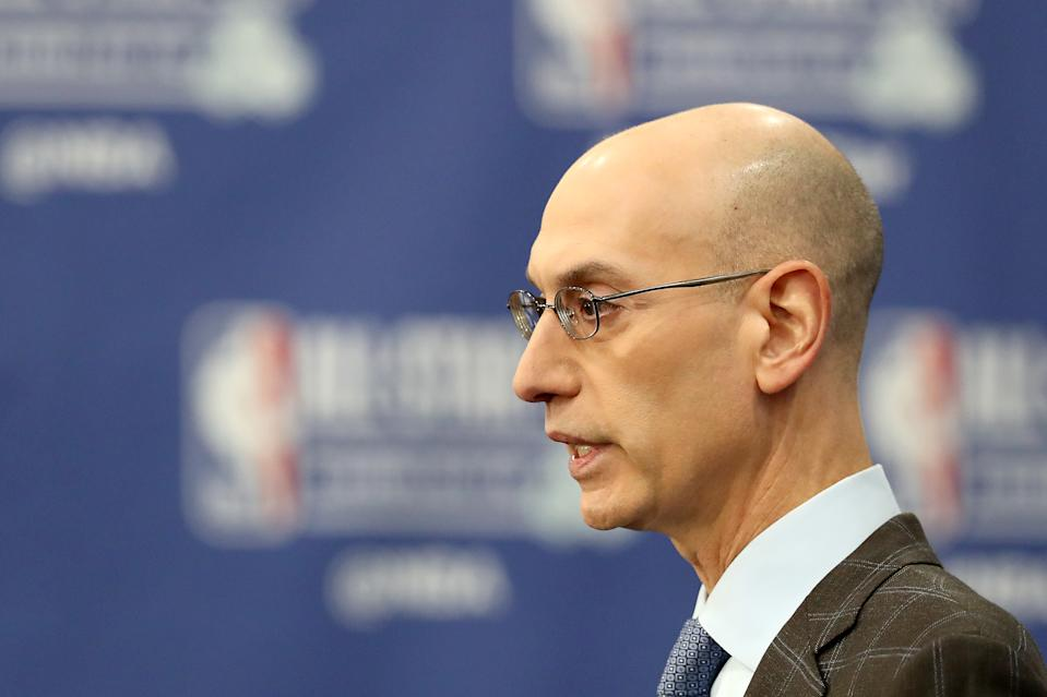 The NBA isn't yet planning to cancel games, but is talking player pay in the event that games are lost. (Streeter Lecka/Getty Images)