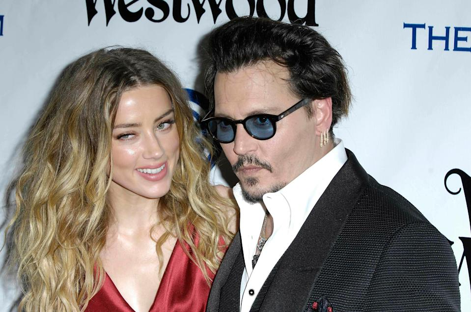 Photo by: Michael Germana/STAR MAX/IPx 2019 1/9/16 Amber Heard and Johnny Depp during The Art of Elysium's Ninth Annual Heaven Gala held in Culver City, California.