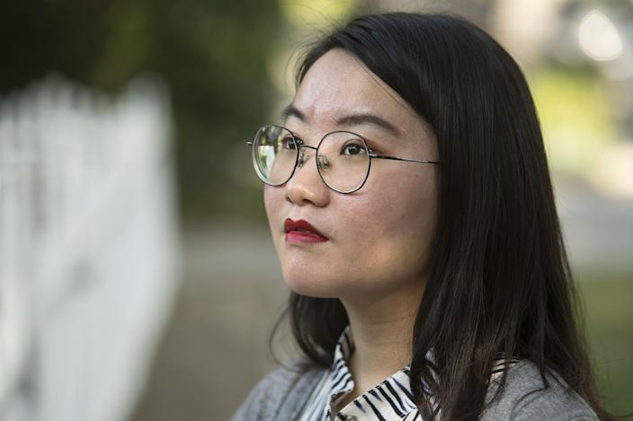 "Xinlu Liang, 22, is now a freelance writer who completed her master's degree in journalism at USC in May 2020. <span class=""copyright"">(Mel Melcon / Los Angeles Times)</span>"