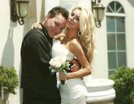Courtney Stodden and Doug Hutchison on their wedding day.