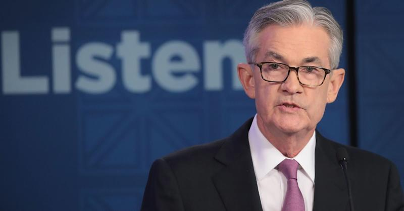 Jerome Powell, Chair, Board of Governors of the Federal Reserve speaks during a conference at the Federal Reserve Bank of Chicago on June 4, 2019 in Chicago, Illinois.