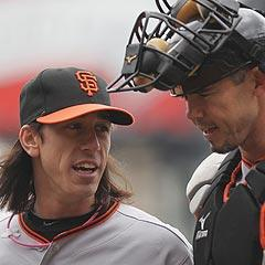 Tim Lincecum's velocity might be down, but the ace of the Giants' staff is as good as ever