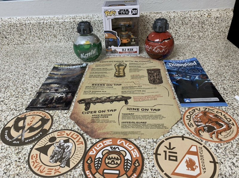 Fans are snapping up free souvenirs at Disneyland's Star Wars: Galaxy's Edge. (Photo: eBay.com)