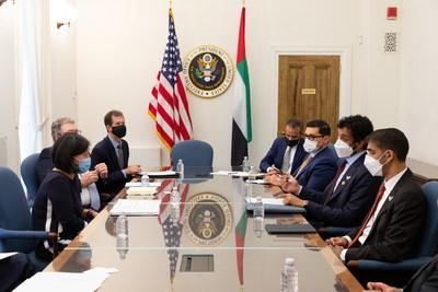A delegation of senior Emirati officials led by UAE Minister of Economy Abdulla Bin Touq Al Marri and Minister of State for Foreign Trade, Dr. Thani Ahmed Al-Zeyoudi travelled to the US to hold high-level trade meetings with both their federal and state-level counterparts.
