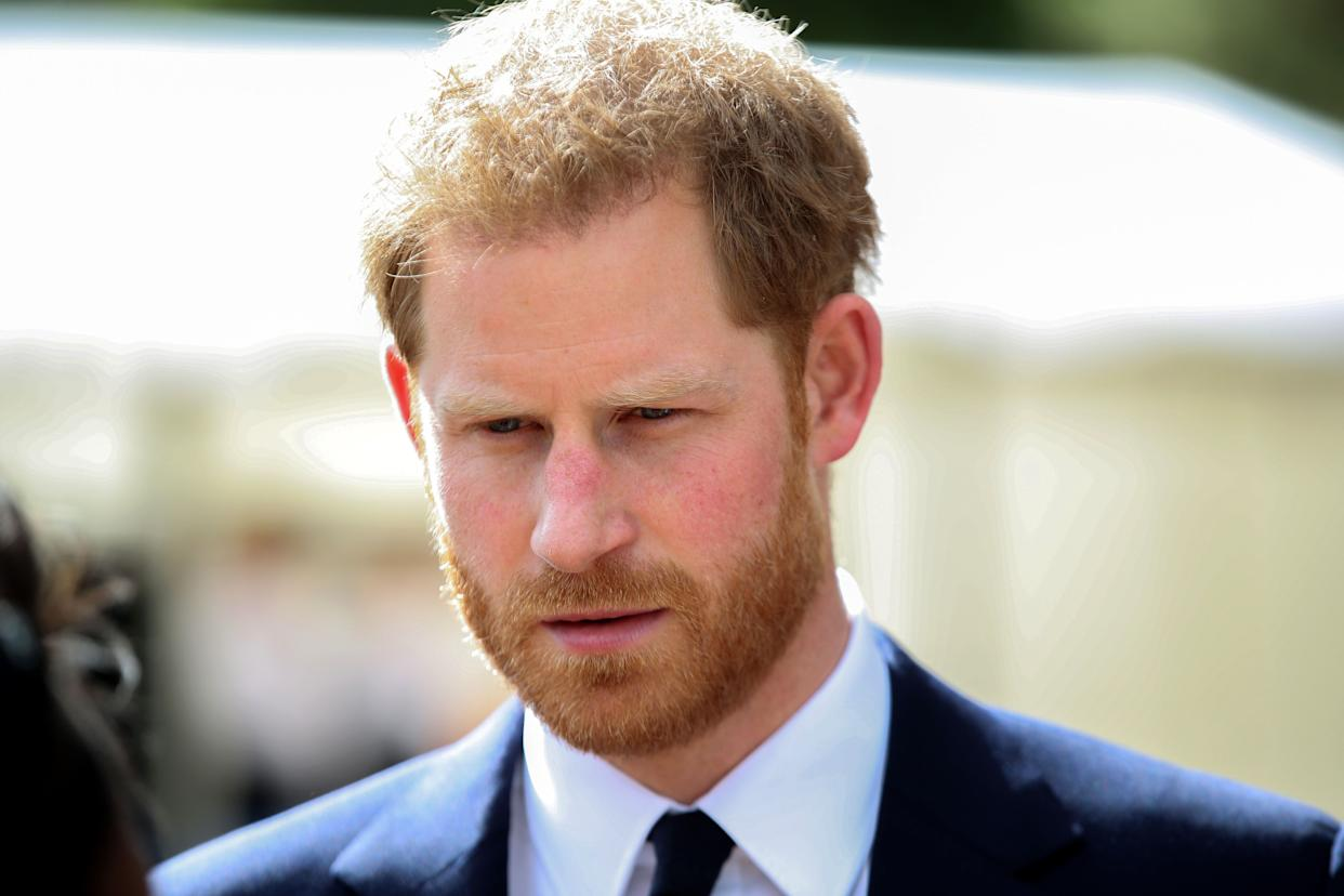 Britain's Prince Harry, Duke of Sussex attends a garden party to celebrate the 70th anniversary of the Commonwealth at Marlborough House in London, on June 14, 2019. (Photo by Chris Jackson / POOL / AFP)        (Photo credit should read CHRIS JACKSON/AFP/Getty Images)