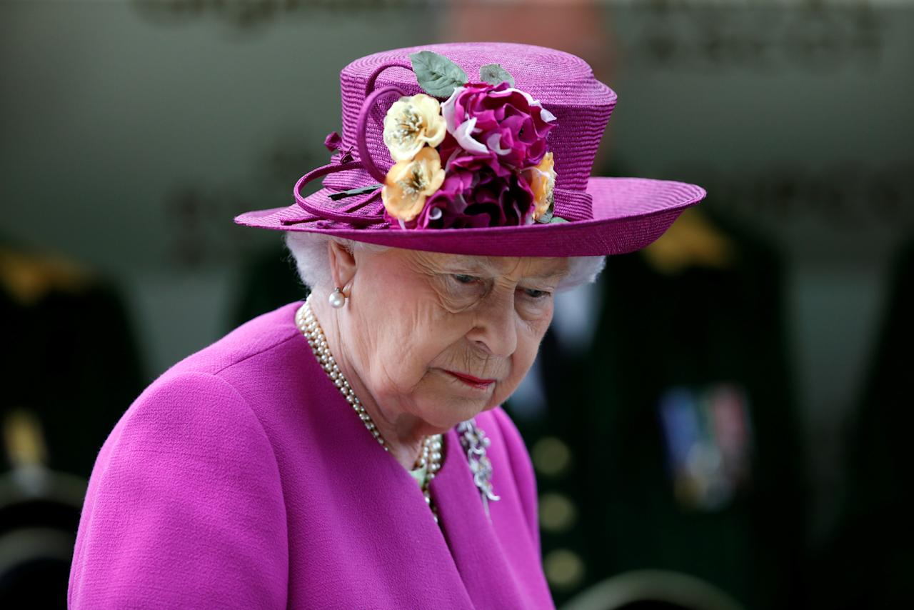 Horse Racing - Royal Ascot - Ascot Racecourse, Ascot, Britain - June 24, 2017      Britain's Queen Elizabeth after making the trophy presentation for the 16:20 Diamond Jubilee Stakes   Action Images via Reuters/Matthew Childs