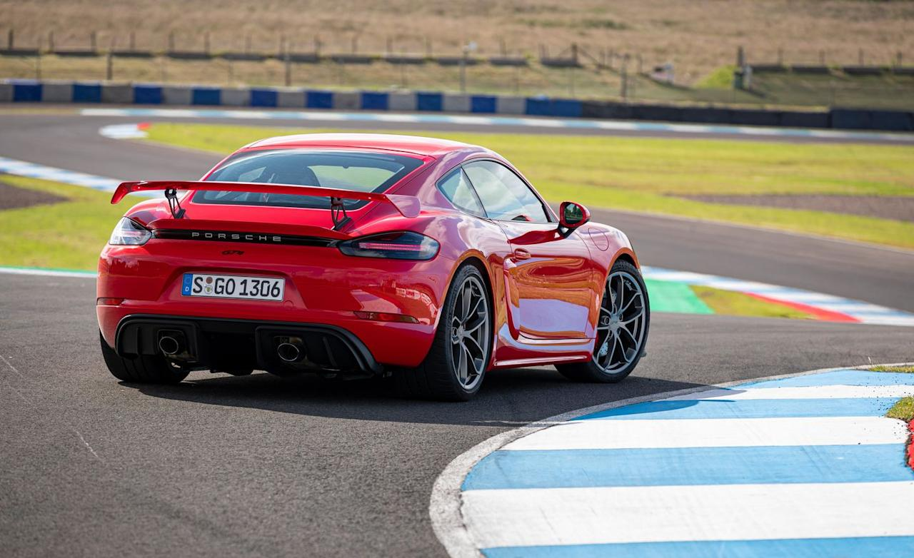 <p>While the 4.0-liter displacement is the same as that of the 911 GT3, this engine is a naturally aspirated variant of the turbocharged 3.0-liter found in the 911 lineup.</p>