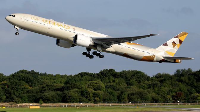 Pesawat Etihad Airways (Wikimedia Commons)