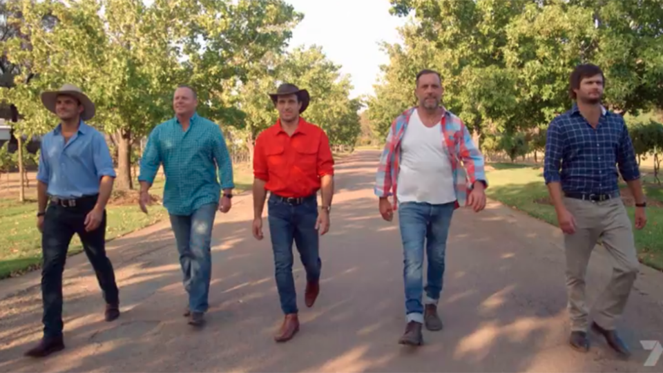 Farmers Alex, Harry, Neil, Nick and Sam appear in first Farmer Wants a Wife series