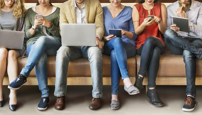 Younger people use a variety of devices.