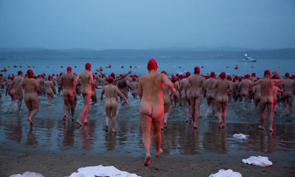 A mass skinny dip in Hobart, Tasmania – and no one had to pack a cossie.
