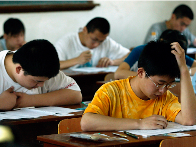 Reports of cheating on the ACT in China reflect a ...