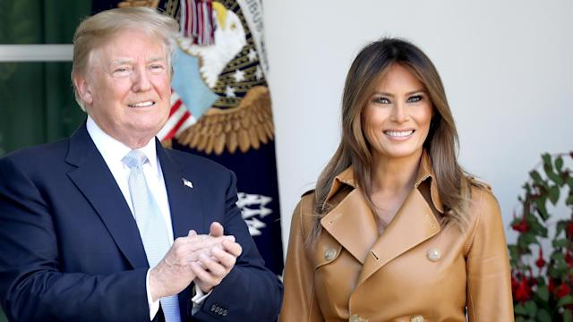 President Donald Trump and first lady Melania Trump will not attend the royal wedding. (Photo: Win McNamee/Getty Images)