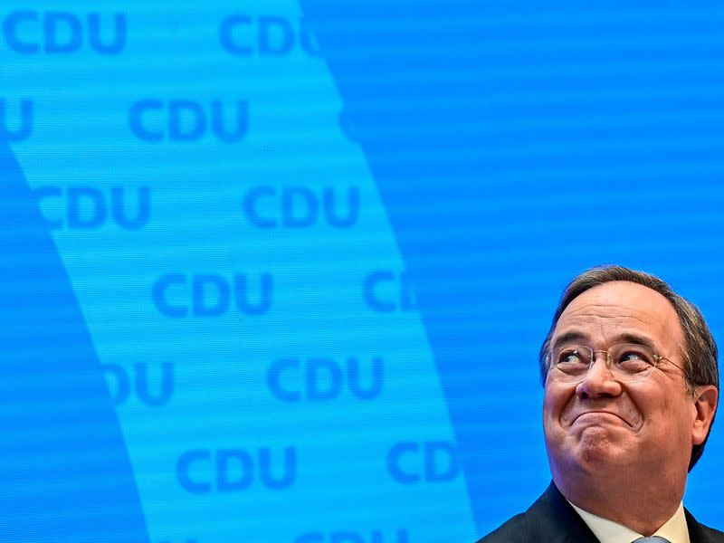 FILE PHOTO: CDU chief Laschet gives a news conference in Berlin