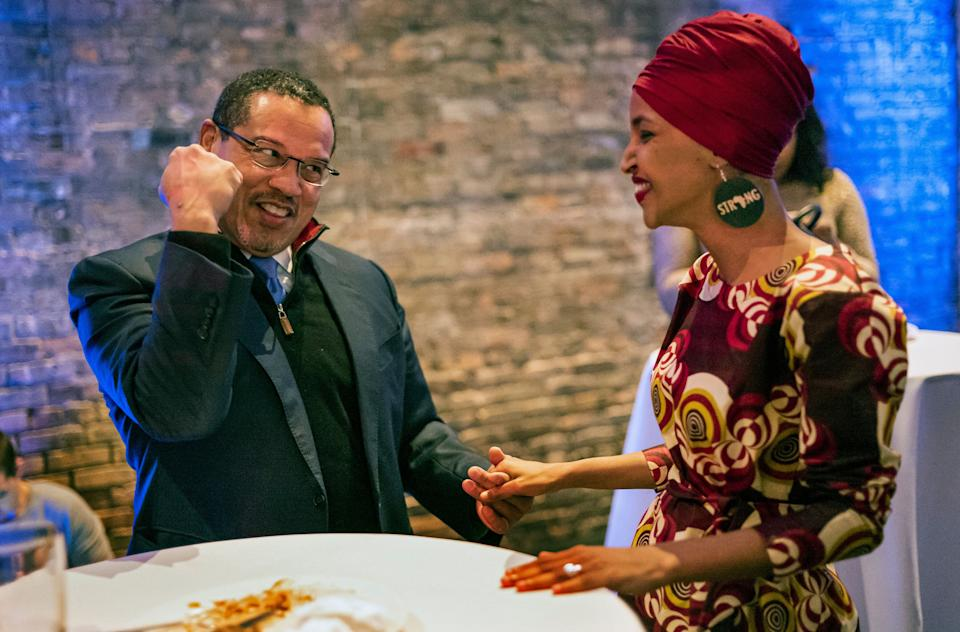Minnesota Attorney General Keith Ellison has endorsed the reelection of Omar, his successor in Minnesota's 5th Congressional District. (Photo: Richard Tsong-Taatarii/Star Tribune/Getty Images)