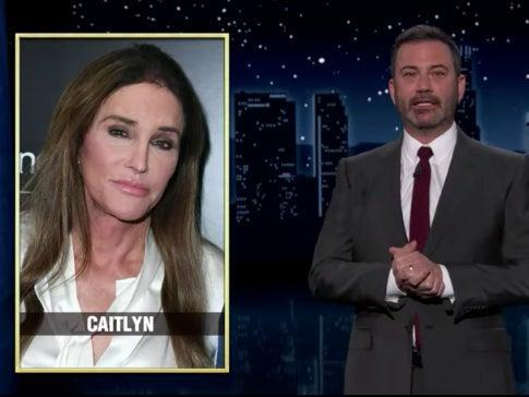 Jimmy Kimmel mocked Caitlyn Jenner on his late-night show (ABC/YouTube)
