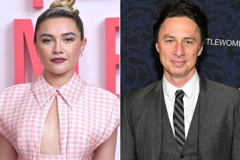 Florence Pugh; Zach Braff | Anthony Harvey / Shutterstock; Dia Dipasupil / Getty Images