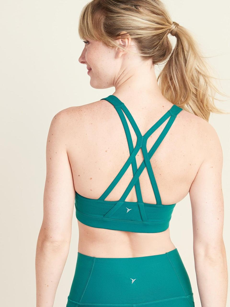 <p>This <span>Old Navy Medium Support Strappy Sports Bra</span> ($20, originally $23) is a great staple.</p>