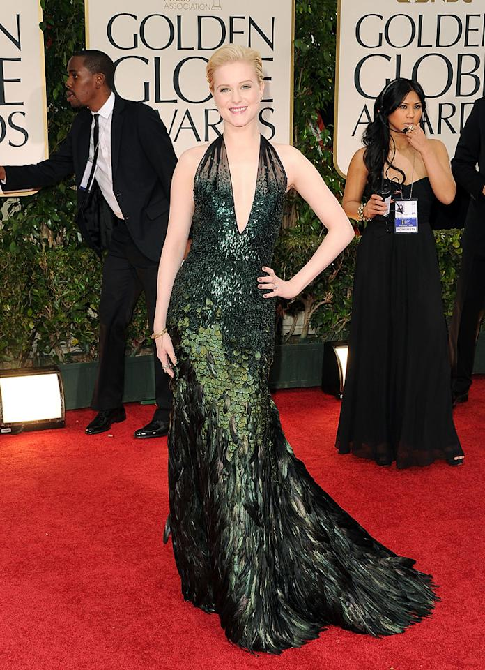Evan Rachel Wood arrives at the 69th Annual Golden Globe Awards in Beverly Hills, California, on January 15