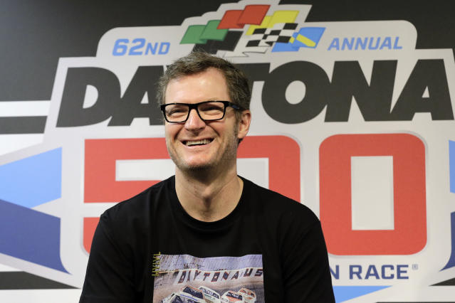 Dale Earnhardt Jr. is now a NASCAR Hall of Famer. (AP Photo/Terry Renna, File)