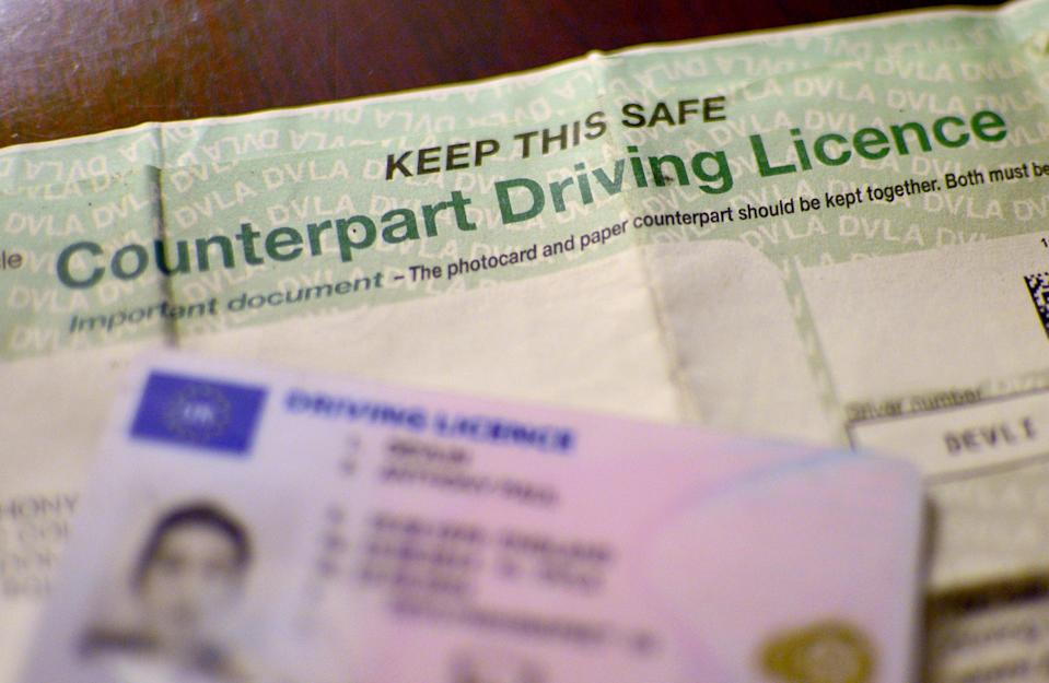 Driving licence (PA Wire)