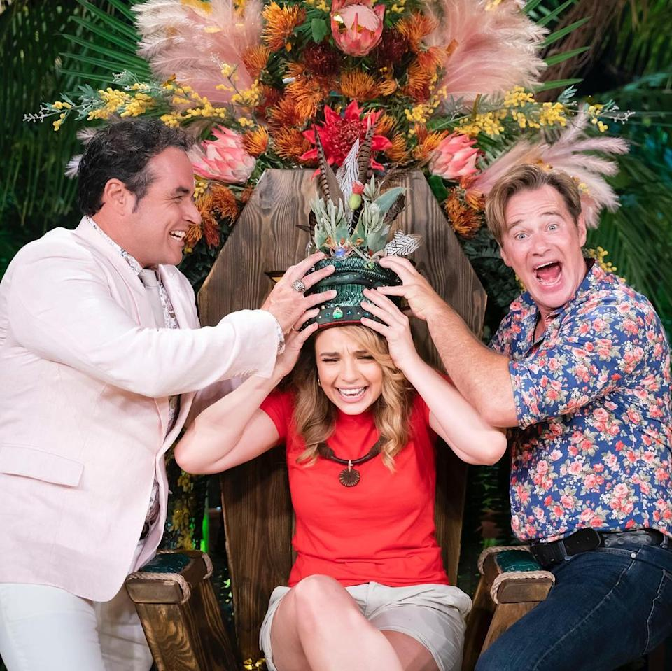 Abbie Chatfield being crowned winner of I'm A Celebrity