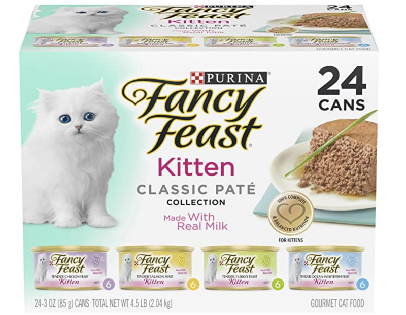 Purina Fancy Feast Grain Free Pate Wet Kitten Food Variety Pack. (PHOTO: Amazon)