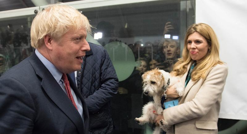 New parents Boris Johnson and Carrie Symonds have a rescue Jack Russell cross called Dilyn (Getty Images)