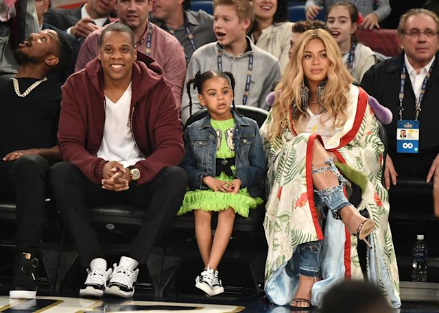 Beyonce and Jay Z twins