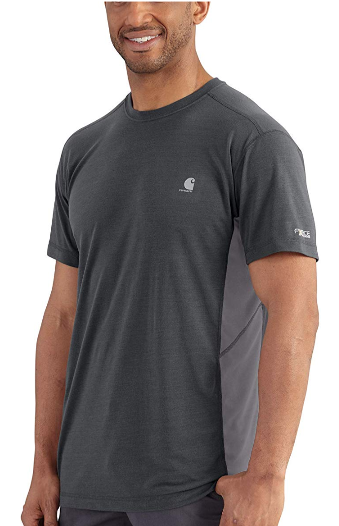 Carhartt Men's Force Extremes Short Sleeve T Shirt in Shadow/Charcoal. (Photo: Amazon)