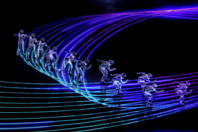 <p>Dancers perform during the closing ceremony of the 2018 Winter Olympics in Pyeongchang, South Korea, Sunday, Feb. 25, 2018. (AP Photo/Charlie Riedel) </p>