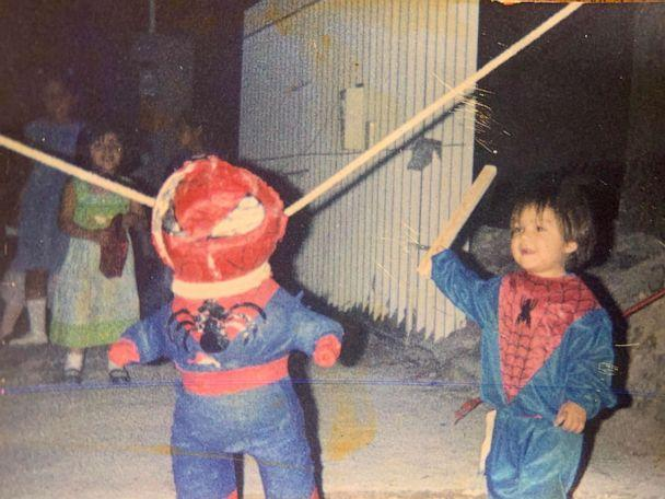 PHOTO: A young Brandon Salinas celebrates a birthday dressed as his favorite childhood superhero, Spiderman. (Photo provided by Ivon Castillo)
