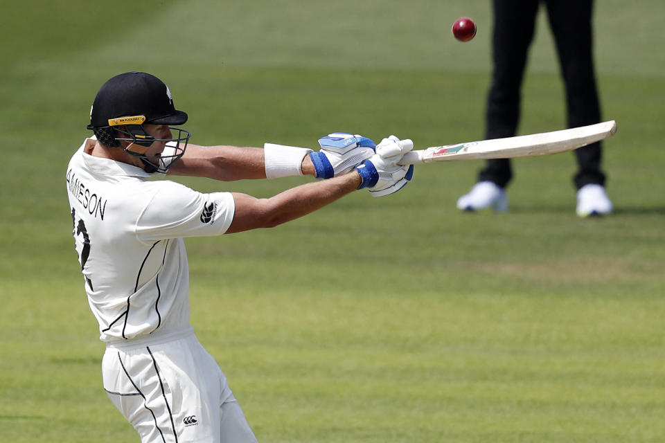 <p><strong>9 - </strong>The Kiwi batsman of team New Zealand has swiped nine sixes across six innings in this series. He has 226 runs to his name with an average strike rate of 70.62 and a run rate of 56.50.</p>