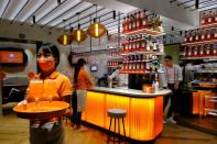 General view at a Campari inauguration of a new brand house for Aperol, its best-selling beverage, in Venice, Italy