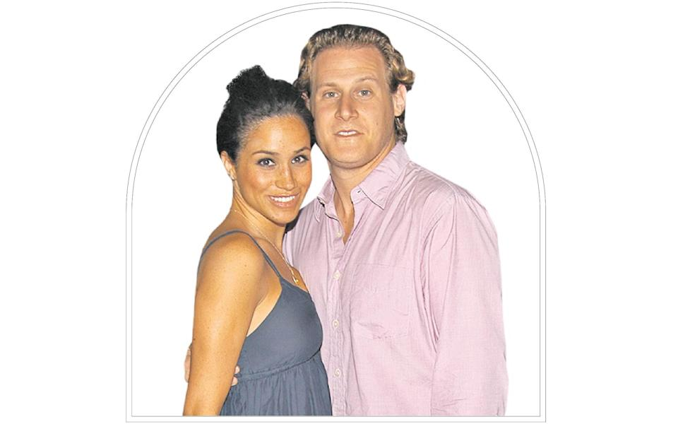With Trevor Engelson, her first husband in 2006