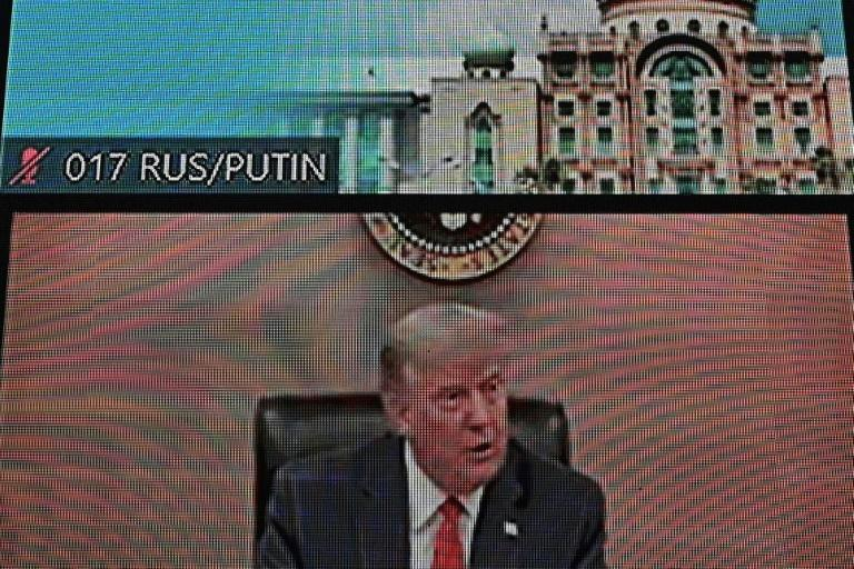 US President Donald Trump appears via video link at the virtual Asia-Pacific Economic Cooperation summit