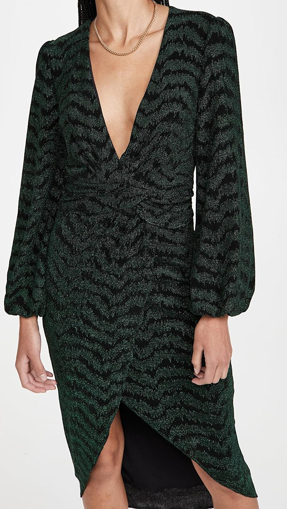 <p>This <span>Saylor Camila Dress</span> ($89, originally $297) is so effortlessly elegant. We love the deep V cut and body-hugging profile.</p>