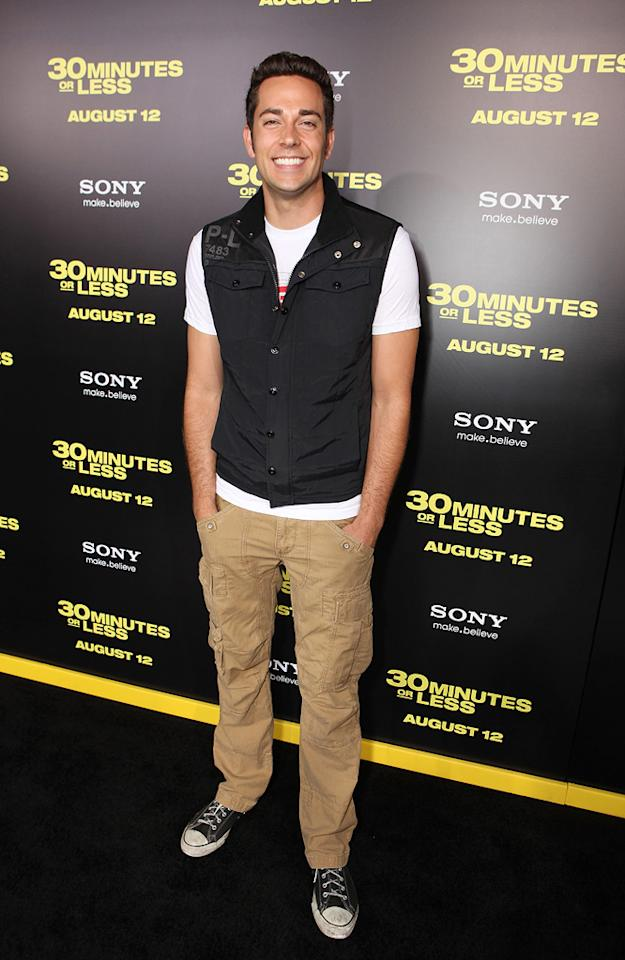 "<a href=""http://movies.yahoo.com/movie/contributor/1808421073"">Zachary Levi</a> at the Los Angeles premiere of <a href=""http://movies.yahoo.com/movie/1810160427/info"">30 Minutes or Less</a> on August 8, 2011."