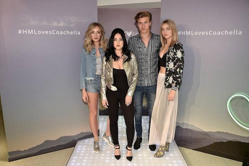The Atomics Perform At The Launch Of The H&M Loves Coachella Collection