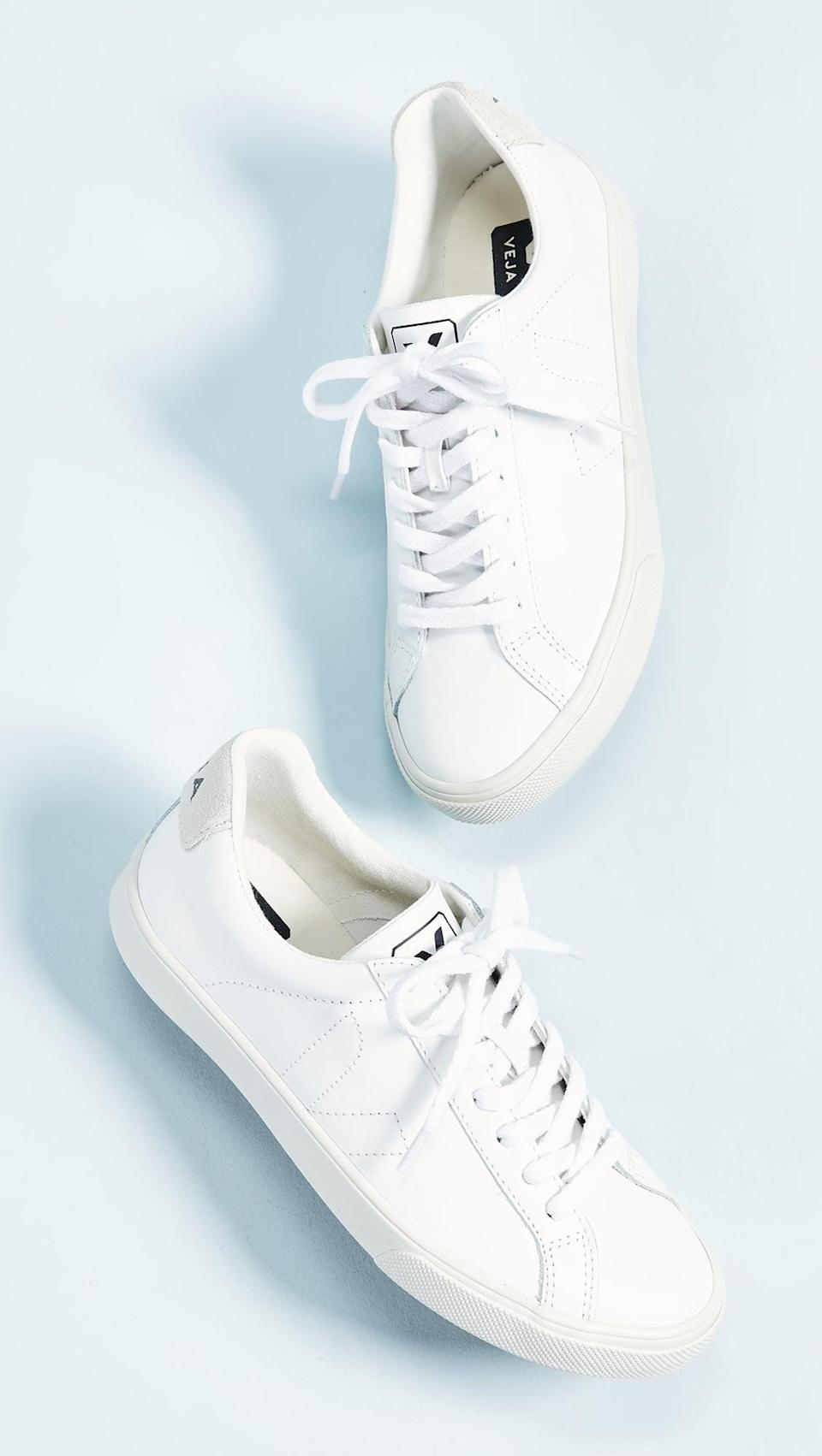 <p>You can wear these <span>Veja Esplar Low Sneakers</span> ($120) with anything in your closet.</p>